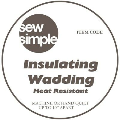 Sew Simple Insulated Wadding Extra Wide 44 Inches Just £7.99 per metre!