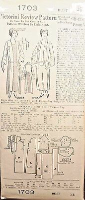 Pictorial Review Pattern 1703 Ladies One-Piece Slip-On Dress Size 36