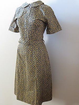 Vintage 50's 60's NOS Peter Pan Collar House Day Dress