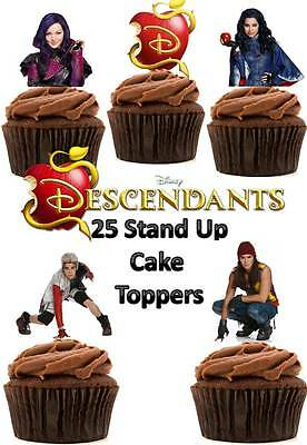 Disney Descendants Edible Wafer Card Stand up Cake toppers x 25