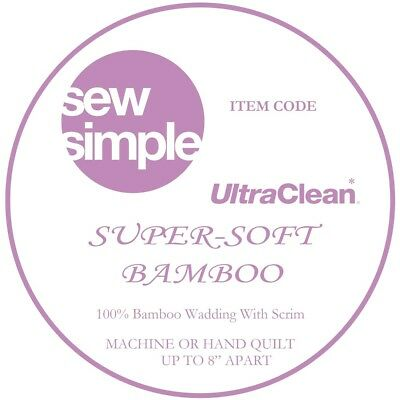 Sew Simple Super-Soft 100% Bamboo Wadding 2.3m wide Just £13.99 per metre
