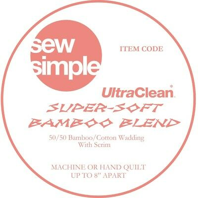 Sew Simple Super-Soft 50/50 Bamboo Cotton Blend Wadding Just £12.99 per metre