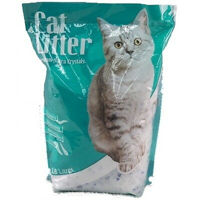 3.8 Litre 1.6KG Silica Cat Litter Pet Kitten Natural Ultra Absortbent Kitty Sand