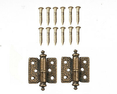 Antique Style Hinges ( Style 1 ) Dolls House Miniature Door Accessory, Miniature