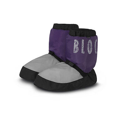 Bloch Warm Up Boots NWT Purple/Gray IM009 Adult S