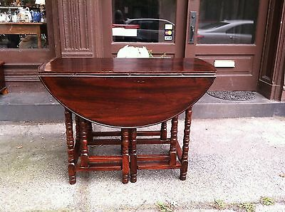 Double Gate leg Table Solid Mahogany Late 18th to Early 19th Century