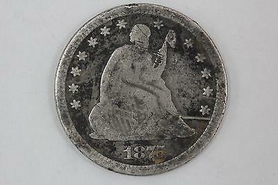 1875 Seated Liberty Quarter 90% Silver 25c - Look!!
