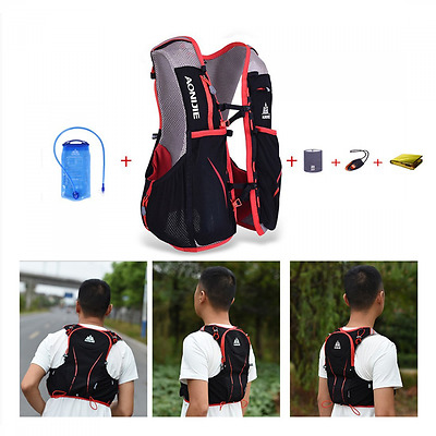 AONIJIE 5L Waterproof Nylon Running Backpack Marathon Cycling Bags Running Vest