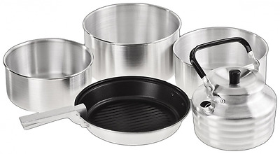 Crevice Black 5-Piece Cooking Set Silver 14.5 x 22 x 22 CM, BCR3903