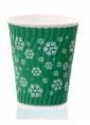 Snowflake Double Walled Hot Cup, with Lid, 12oz, Pack of 10