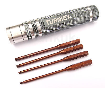 Turnigy Hex Driver Screwdiver Set 4 in 1 - 1.5mm 2mm 3mm 2 Handles UK