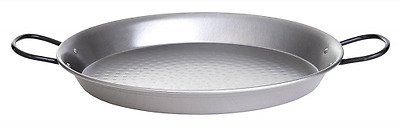 Paella World International Polished Steel Paella Pan Diameter 80 cm silver