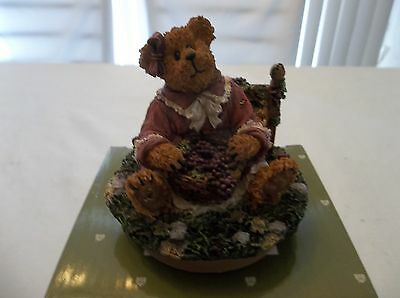Boyds Bears Home Collection Large Candle Topper Arbor Grape Harvest Nib Retired