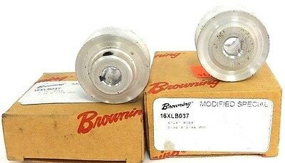 Lot Of 2 New Browning 16Xlb037 Gear Pulleys 15/16' Bore, 3/32 X 3/64 Kwy
