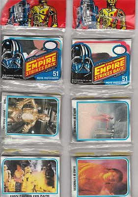 4 1980 Empire Strikes Back Rack Pack Seres 2 51 cards per or 204 cards total