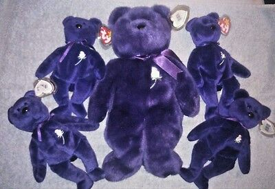 Ty Beanie Bears Lady Di ,princess Diana Beanie Bear Collection Rare ?