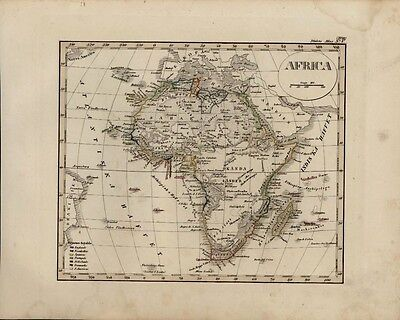 Africa continent Mts. of Moon shown 1846 scarce Stulpnagel Colonial antique map