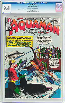 Aquaman 3 (May-June 1962) CGC 9.4 Off-White to White Pages, Art by Nick Cardy