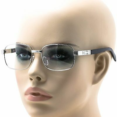 Classic Retro Vintage Style Clear Lens Square EYE GLASSES Silver Fashion Frame