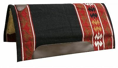 """Showman RED 32"""" x 34"""" Wool Top Western Cutter Style Saddle Pad! HORSE TACK!"""