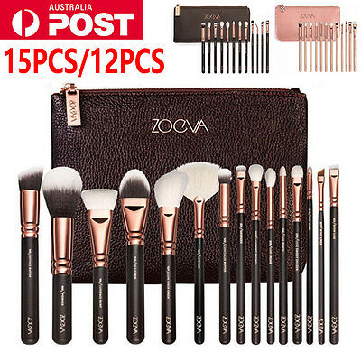 ZOEVA Rose Golden Makeup Complete Cosmetic Eye Power Brushes Set with Package AU