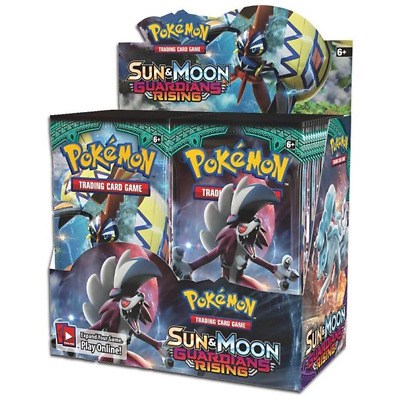 POKEMON TCG Sun & Moon Guardians Rising Booster Box - 36 Booster Packs