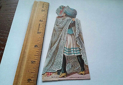 victorian boy girl advertising trade card McLaughlin's XXXX Coffee stands folds
