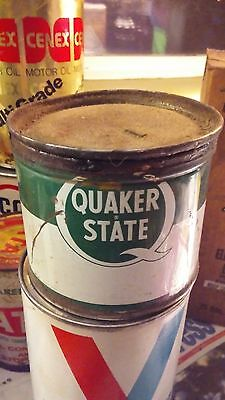 Quaker State Superfine Lubricant 1 Pound Oil Can 2/3 full yet. Great Display
