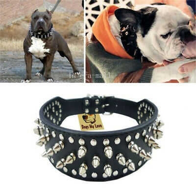 Pet Adjustable Dog Spiked Studded Rivets Cat Dog Pet Faux PU Leather Collar Toy