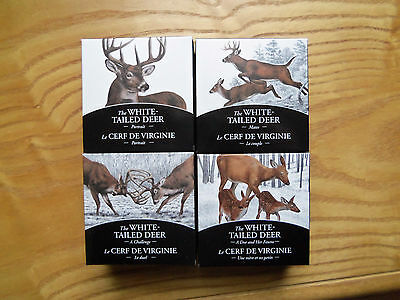 4 Coin Set Royal Canadian Mint 2014 The Whitetail Deer  $20 Pure Silver Proof