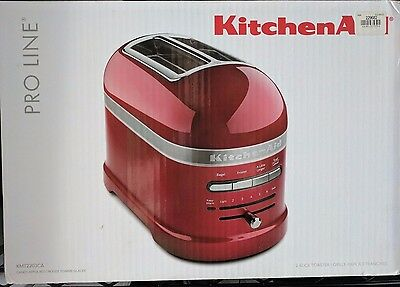 new in box KitchenAid Pro Line 2-slice Toaster Williams Sonoma candy apple red