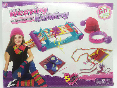 2017 Kids Girls Weaving Loom Kit Knitting Needlepoint Crochet DIY Craft Kit
