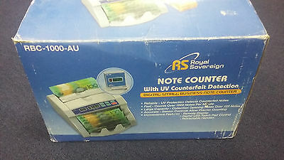 Royal Sovereign RBC-1000-AU Note Counter with UV Counterfeit Detection