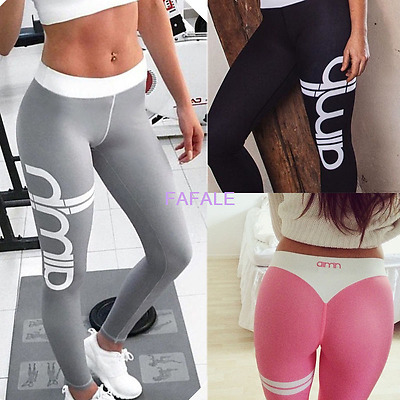 Womens Sports Gym Yoga Running Workout Leggings Fitness Leotards Athletic Pants