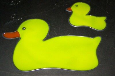 Rubber Ducky set stained glass Window cling Great Suncatchers!  2pc set