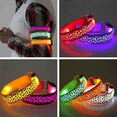 Flashing Light LED Armband Reflective Belt Strap Arm Band Sports Running Band