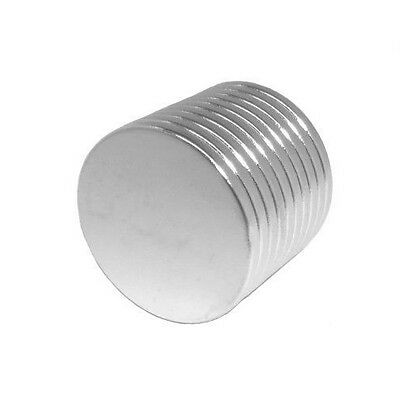 Lot 10 25 50 3/4 x 1/16 Inch Strong Neodymium Rare Earth Disc Magnets N48