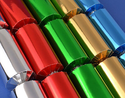12 Assorted Christmas Foil Make & Fill Your Own Cracker Making Craft Kit