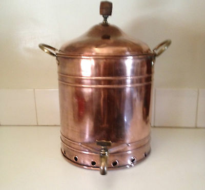 Antique Copper Urn Vintage Industrial XL Boiler Cafe Display Steam Punk PU 3054