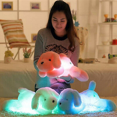 45cm Colorful LED Light Luminous Lovely Hug Dog Plush Stuffed Toy Animals Pillow