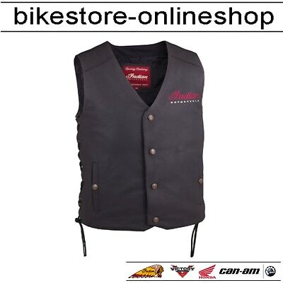 Indian Motorcycle Lederweste Part 2 Herren Jacke Schwarz Kutte