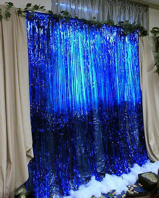 Metallic Fringe Curtain Party Foil Tinsel Room Decor 3' x 8' Door Wholesale WL