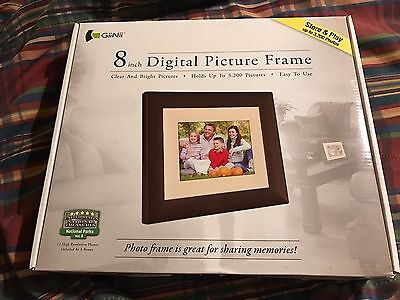 GiiNii 8 inch Digital Picture Frame w/ US National Treasures Parks Vol. 1