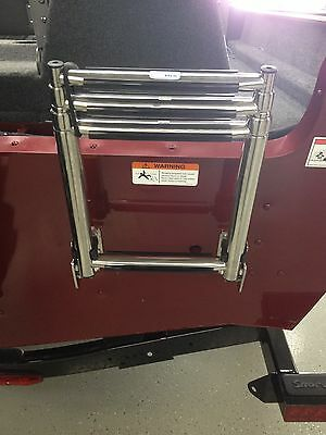 NEW! Lund Ladder 4-step telescoping ladder with clip - Lund Boats - Boat Ladder