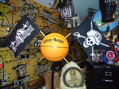 Large Captain Morgan Rum Basketball Floor Display Neat Unusual Rare & Big