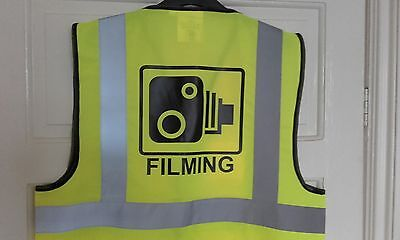 FILMING high vis viz vest - cycling bike horse safety speed helmet camera polite