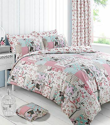 Boutique Pink Floral Duvet Cover Bedding Quilt Cover Set Pillowcase All Sizes