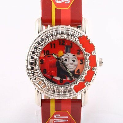 Thomas Red Leather Silvery Thick  Turn Coil Child Watch Tf-3K2173U-002Rd - James