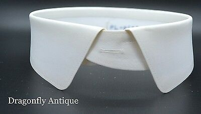 SUPERB Vintage Stiff White Collar 16 Inch Starched 1960s Detachable Scottish
