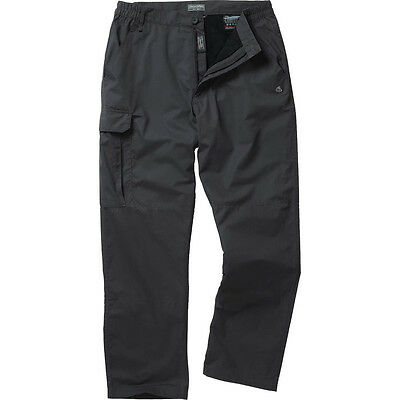 Craghoppers Mens C65 Winter Fleece Lined Polycotton Walking Trousers